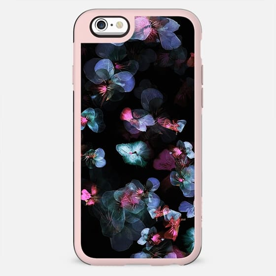 X-ray blue magenta pansy petals - New Standard Case