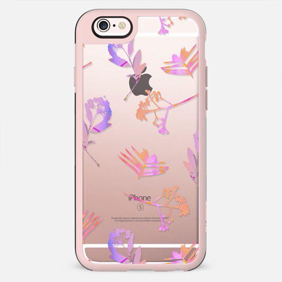 Minimal pink transparent flowers - New Standard Case