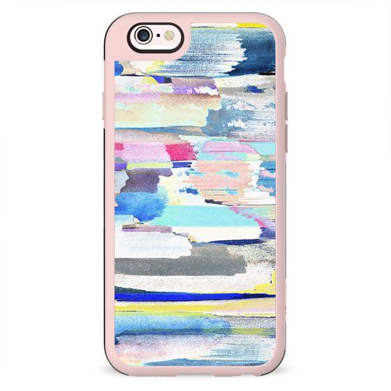 Colourful painted brushstroke art