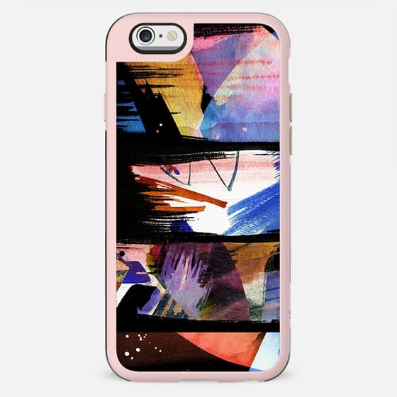 Colourful painted brushstroke stripes - New Standard Case