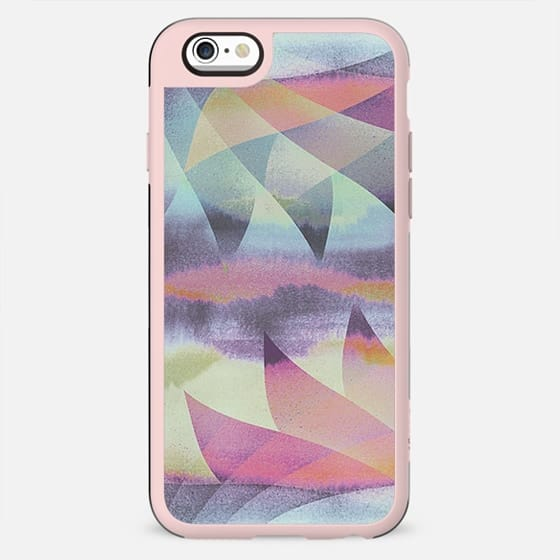 Rainbow ombre painted petals - New Standard Case