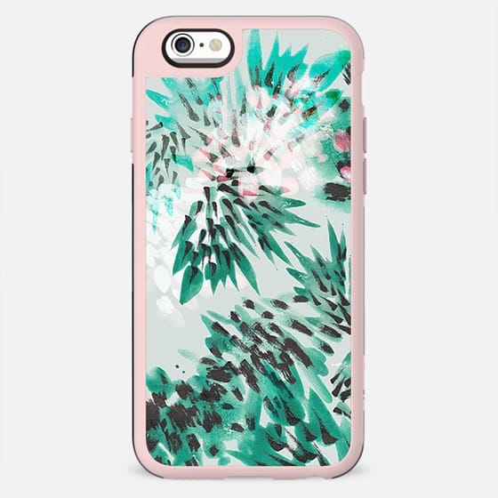 Brushed painted tropical foliage - New Standard Case