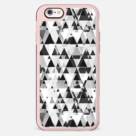 Monochrome triangles pattern on white