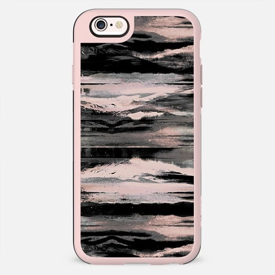 Painted faded pink landscape stripes - New Standard Case
