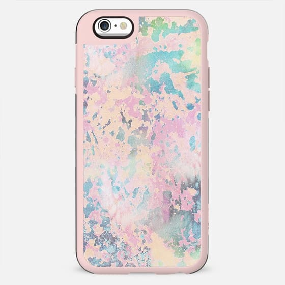 Pastel pink paint cracks