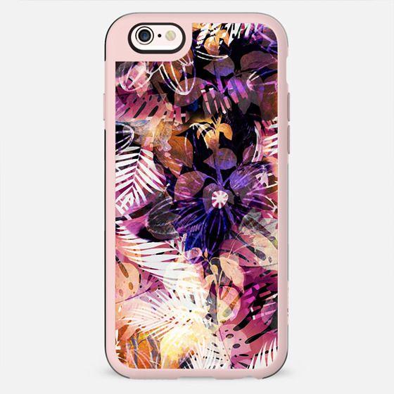 Dark pink tropical foliage - New Standard Case