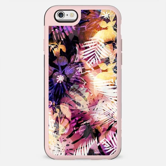 Dark pink tropical flowers and foliage - New Standard Case
