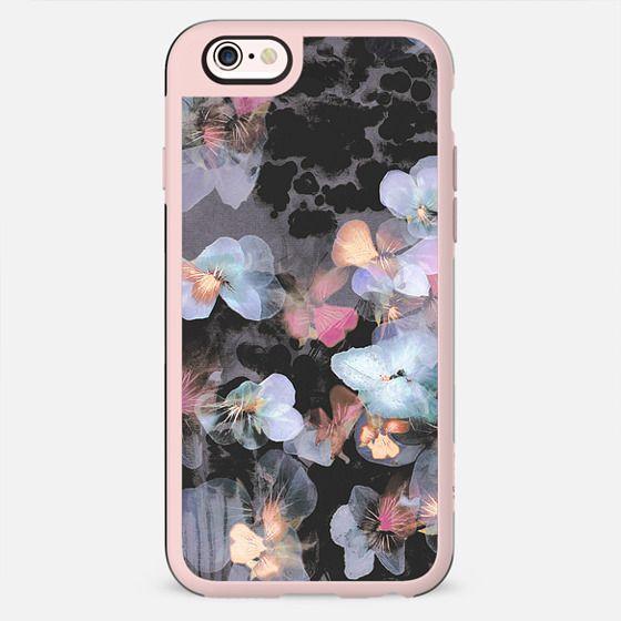 Transparent blue pansy petals