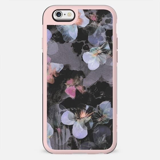 Transparent painted blue pansy petals - New Standard Case
