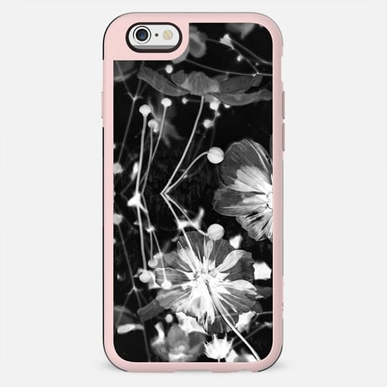 X-ray black and white flowers - New Standard Case