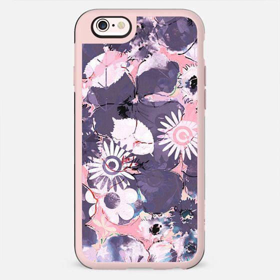 Pastel pink purple watercolor petals - New Standard Case