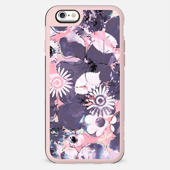 Pastel pink purple watercolor petals - New Standard Case