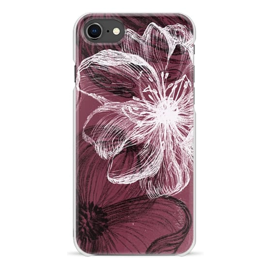 iPhone 7 Plus Cases - White black crayon petals drawing