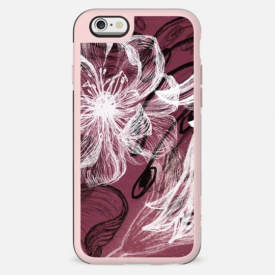 White chalk petals drawing - New Standard Case