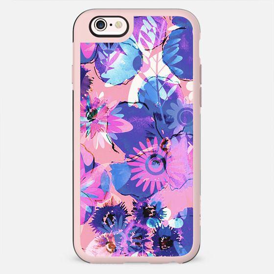 Pink - purple watercolor flowers - New Standard Case