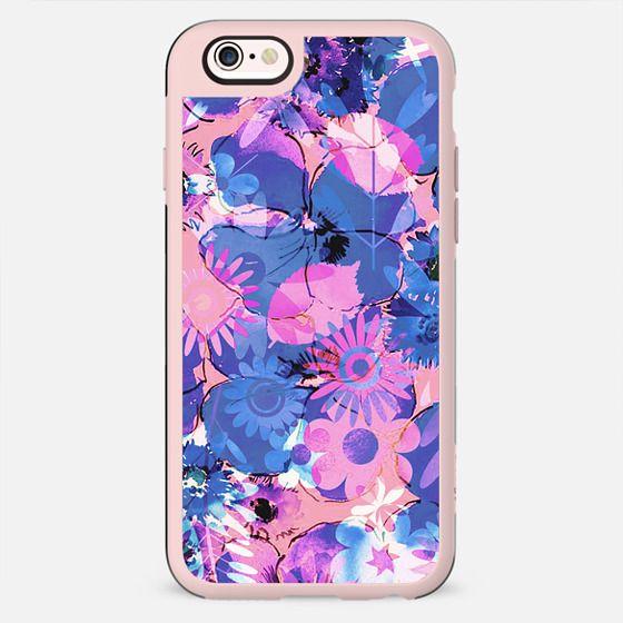Pink purple watercolor floral petals - New Standard Case