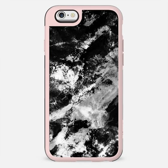 Black and white mountain marble - New Standard Case