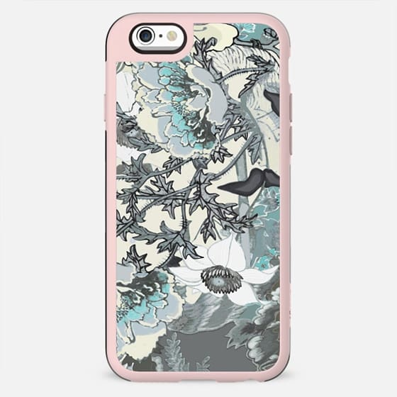 Pastel line art floral illustration - New Standard Case