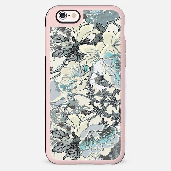 Pastel line art floral illustration