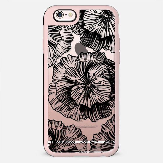 Line art clear flower petals