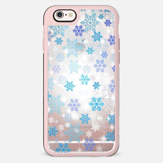 Blue white snowflakes sparkle 2 - New Standard Case