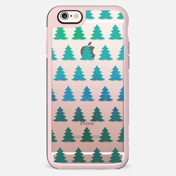 Sparkle turquoise pine trees - New Standard Case