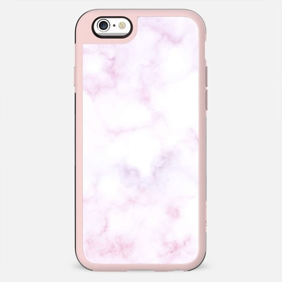 White pink soft marble - New Standard Case