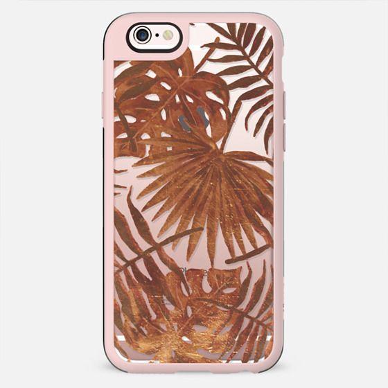 Golden tropical leaves - New Standard Case
