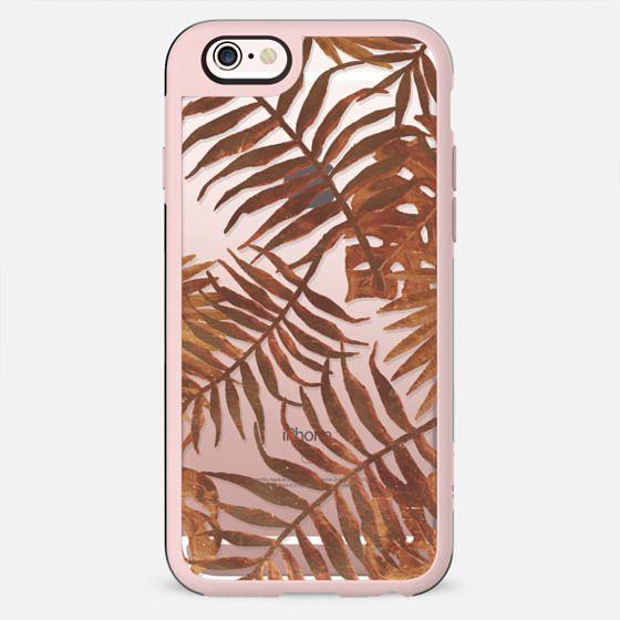 Golden tropical leaves