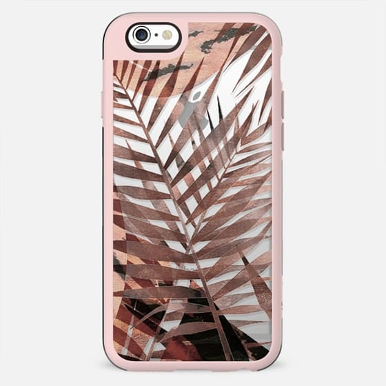 Brown tropical painted leaves - New Standard Case