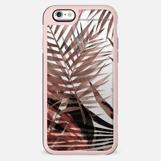 Brown watercolor tropical leaves - New Standard Case