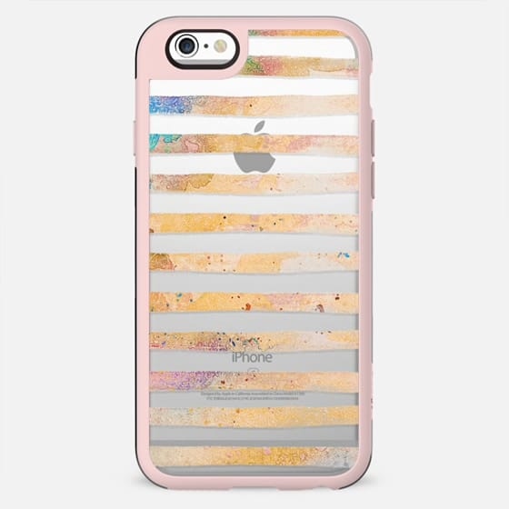 Watercolor pastel painted stripes - New Standard Case