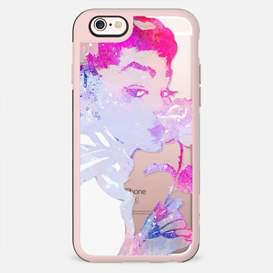 Magenta painted woman with rose - New Standard Case