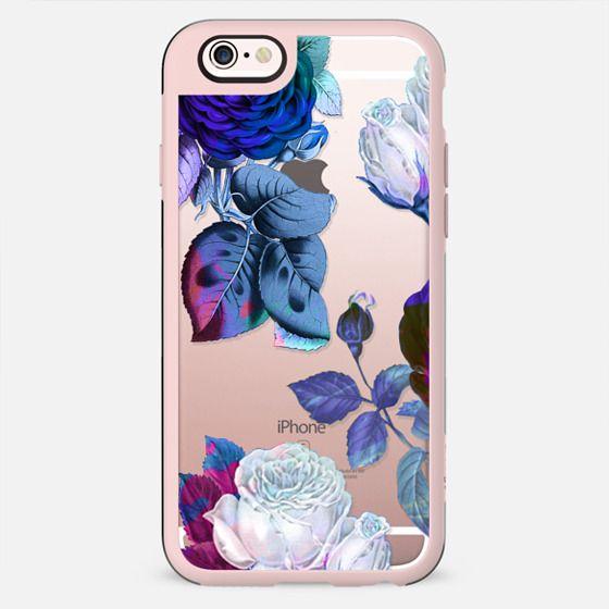 Blue roses botanical illustration