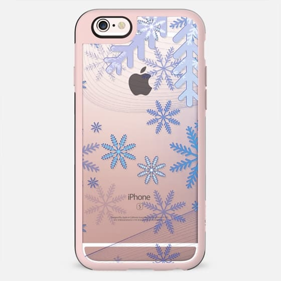 Blue ice snowflakes clear case - New Standard Case