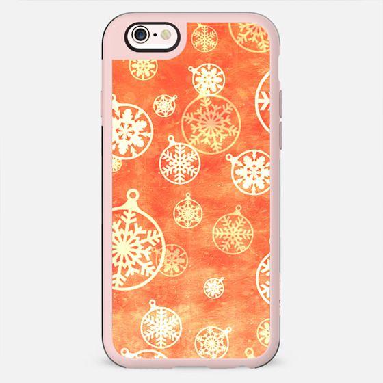 Golden foil Christmas snowflake decorations - New Standard Case