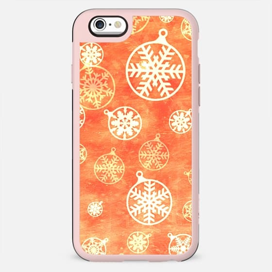 Golden foil Christmas snowflake decorations - New Standard Case