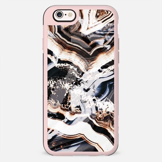 Marble cut gold brushed agate - New Standard Case