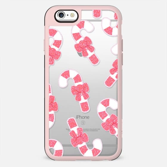 Pink sparkle Christmas candy canes - New Standard Case