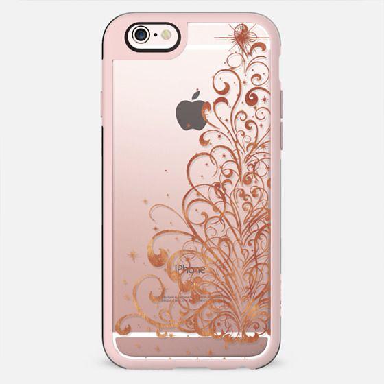 Golden swirls Christmas tree - New Standard Case