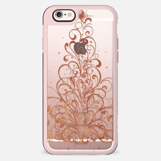 Golden swirls Christmas tree - New Standard Case