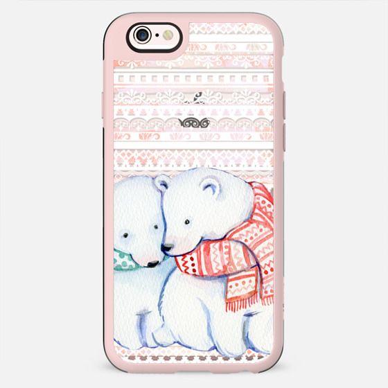Cute cuddling polar bears - New Standard Case