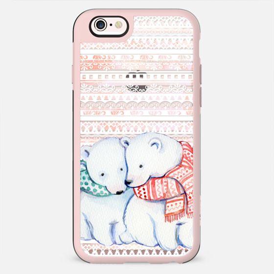 Cuddling cute polar bears - New Standard Case