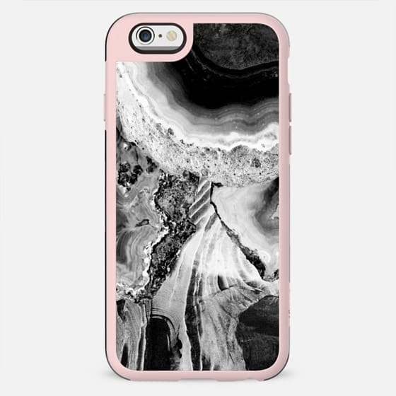 Black and white cut agate marble - New Standard Case