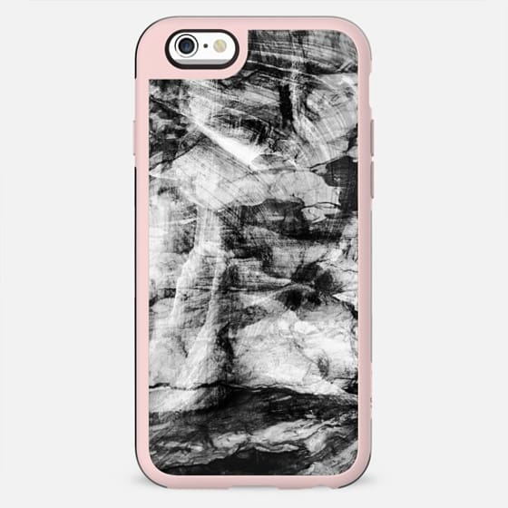 black and white Marble stone textures - New Standard Case