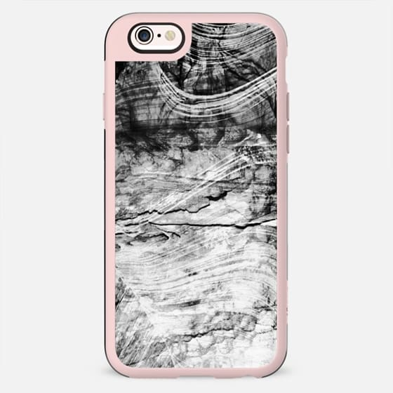 Black and white Marble stone cracked textures - New Standard Case