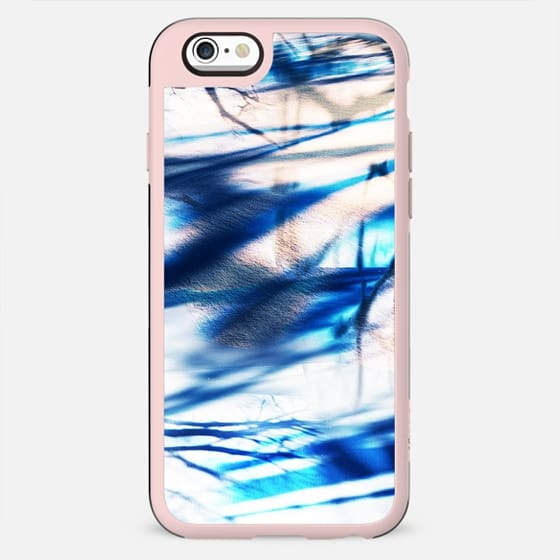 Blue abstract shadows on snow - New Standard Case