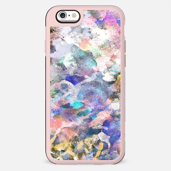 Abstract playful finger painting - New Standard Case