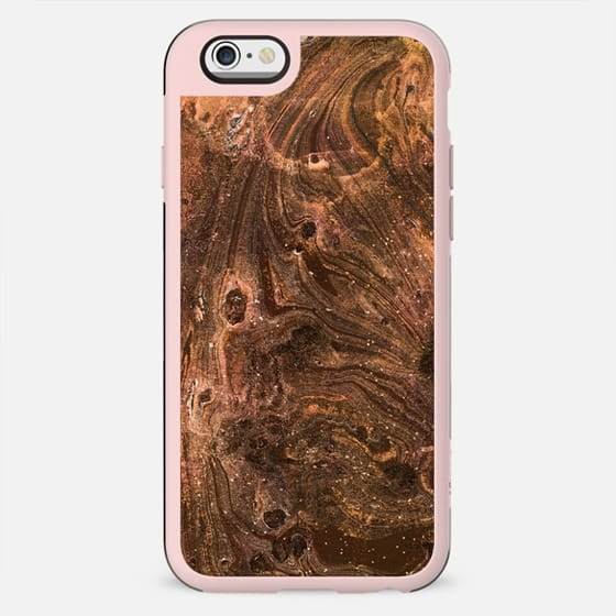 Brown gold grainy marble