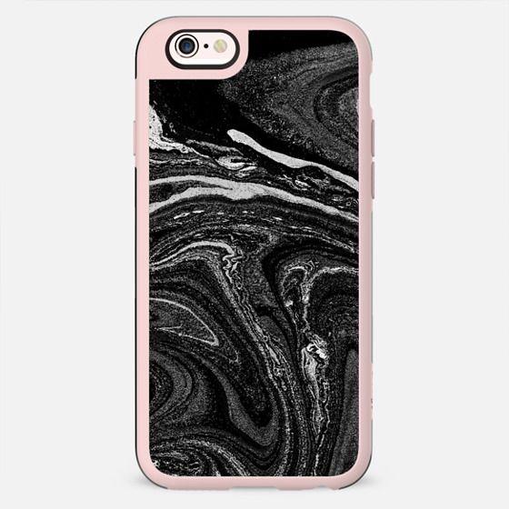 Dark liquid marble paint